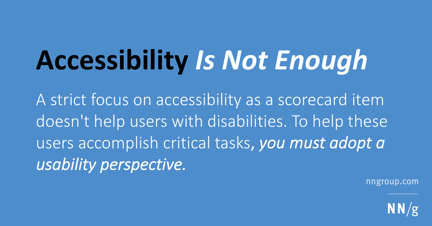 Accessibility Text